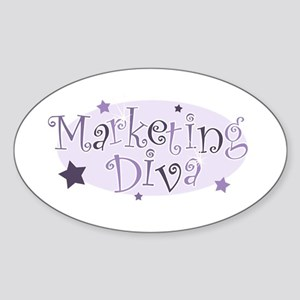 """Marketing Diva"" [purple] Oval Sticker"
